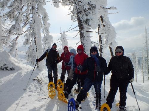 Schneeschuhwandern Arber Schneeschuhtouren Chamer Hütte Hüttenschneeschuhtour