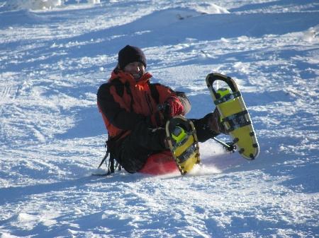 Schlittenfahren Bayerischer Wald Zipflbob-Schneeschuhtour Dreisessel Speed and Snow Schneeschuhtour