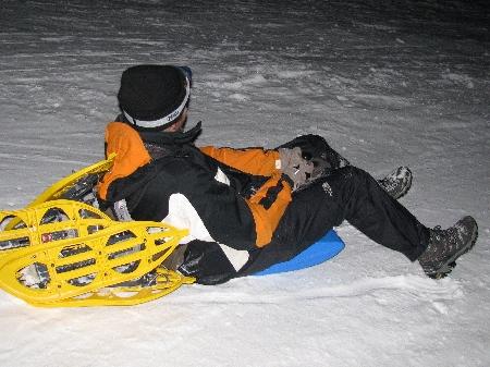 Zipflbobnacht Schlittenfahren Lusen Dreisessel Schneeschuhwandern Schneeschuhlaufen